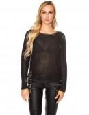 Плетеный черный джемпер UFc55 (111213) - материал, 6