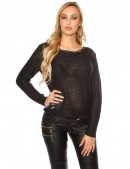Плетеный черный джемпер UFc55 (111213) - 3, 8