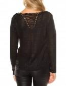 Плетеный черный джемпер UFc55 (111213) - 4, 10