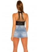Топ под кожу с ремешками на спине KC196 (102196) - оригинальная одежда, 2