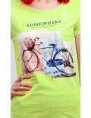 Салатовая футболка с рисунком XC2113 (102113) - оригинальная одежда, 2