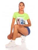 Салатовая футболка с рисунком XC2113 (102113) - foto