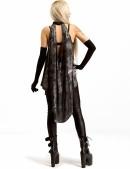 Удлиненный асимметричный женский топ (102156) - оригинальная одежда, 2