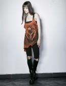 """Длинный женский топ из """"состаренной"""" ткани (102122) - оригинальная одежда, 2"""