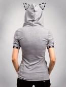 Футболка-худи с ушками (102150) - оригинальная одежда, 2