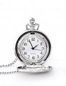 Карманные серебристые часы с цельной крышкой (340040) - оригинальная одежда, 2