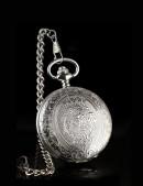 Серебристые часы с красивой гравировкой (340059) - оригинальная одежда, 2