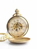 Золотистые карманные часы в подарочной упаковке (330041) - foto