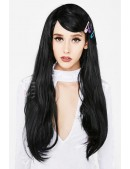 Длинный черный парик Cosplay Couture (503025) - foto