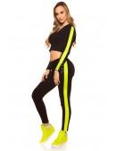 Костюм Workout женский (черный/неоновый желтый) (138051) - 3, 8