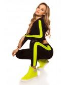 Костюм Workout женский (черный/неоновый желтый) (138051) - foto