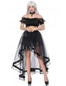 Прозрачная юбка со шлейфом (107163) - 3, 8
