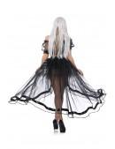 Прозрачная юбка со шлейфом (107163) - материал, 6