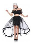 Прозрачная юбка со шлейфом (107163) - цена, 4