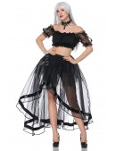 Прозрачная юбка со шлейфом (107163) - оригинальная одежда, 2