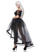 Прозрачная юбка со шлейфом (107163) - foto