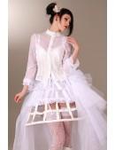 Каркасная белая юбка (107164) - оригинальная одежда, 2