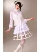 Каркасная белая юбка (107164) - цена, 4