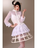 Каркасная белая юбка (107164) - foto