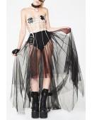 Длинная асимметричная юбка-пачка (107168) - оригинальная одежда, 2