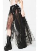 Длинная асимметричная юбка-пачка (107168) - foto