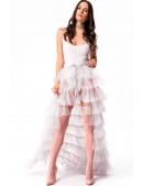 Белая юбка пачка со шлейфом X7169 (107169) - оригинальная одежда, 2