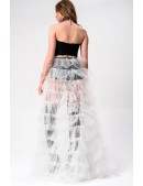 Белая юбка пачка со шлейфом X7169 (107169) - цена, 4
