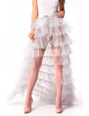 Белая юбка пачка со шлейфом X7169 (107169) - foto