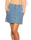Джинсовая юбка с застежкой на кнопках KC173 (107173) - foto