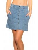 Джинсовая юбка с застежкой на пуговицах M7173 (107173) - foto
