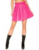 Плиссированная юбка под кожу (фуксия) (107176) - цена, 4