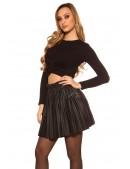 Плиссированная юбка под кожу MF7177 (107177) - 4, 10
