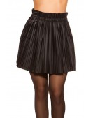 Плиссированная юбка под кожу MF7177 (107177) - цена, 4