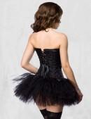 Короткая черная юбка пачка XC7107 (107107) - оригинальная одежда, 2