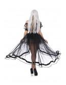 Прозрачная юбка со шлейфом CC7163 (107163) - 3, 8