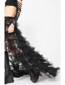 Длинная многослойная юбка-шлейф X206 (107206) - цена, 4