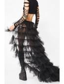 Длинная многослойная юбка-шлейф X206 (107206) - оригинальная одежда, 2