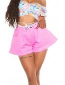 Широкие розовые юбка-шорты MF7007 (117007) - foto