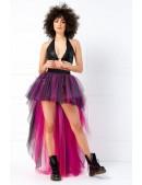 Фестивальная двухсторонняя юбка-пачка со шлейфом (черный/фуксия) (107214) - foto