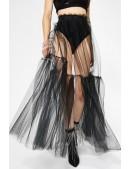 Прозрачная длинная юбка в фестивальном стиле (107215) - оригинальная одежда, 2