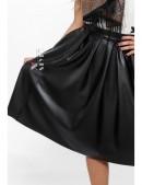 Расклешенная юбка из эко-кожи X137 (107137) - материал, 6