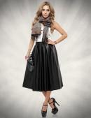 Расклешенная юбка из эко-кожи X137 (107137) - foto