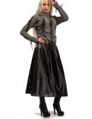 Длинная юбка клеш из перфорированной кожи X-Style (107144) - материал, 6