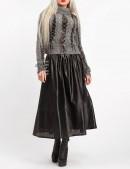Длинная юбка клеш из перфорированной кожи X-Style (107144) - 4, 10