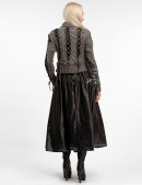 Длинная юбка клеш из перфорированной кожи X-Style (107144) - оригинальная одежда, 2