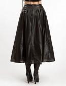 Длинная юбка клеш из перфорированной кожи X-Style (107144) - цена, 4