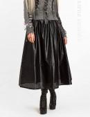 Длинная юбка клеш из перфорированной кожи X-Style (107144) - foto