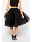 Суперпышная черная юбка-пачка X7150 (107150) - оригинальная одежда, 2