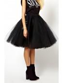Суперпышная черная юбка-пачка X7150 (107150) - foto