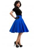 Юбка в стиле 50-х (синий электрик) (107158) - оригинальная одежда, 2